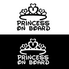 PRINCESS ON BOARD Baby Child Window Bumper Car Sign Decal Sticker 1