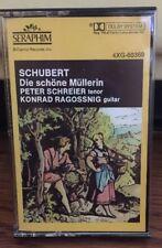 SCHUBERT Die Schone Mullerin Tenor/guitar Schreier/ Ragossnig, Seraphim cassette