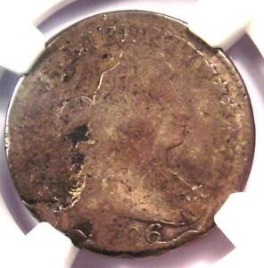 1796 Draped Bust Dime 10C Coin - Certified NGC VG Details - First Dime Minted!