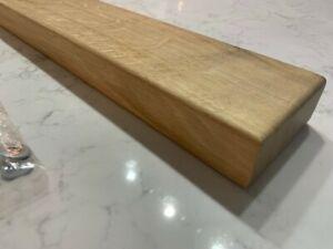 NEW Solid Oak Floating Shelves +Floating Shelf Brackets 80cm x 10cm