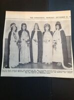 H8-1 Ephemera 1971 Picture Miss Cornwall Carnival Queen Millbrook Southgate Beac