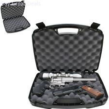 Gun Storage Handgun Revolver Hard Case Holds Up To 2 Pistol Lockable Box Carrier