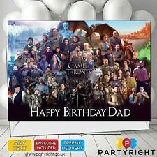 Personalised Game Of Thrones Birthday Card A5 Large Any Name Any Wording (s4)