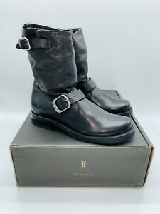 FRYE Women's Veronica Short Mid Calf Boots - Black Leather