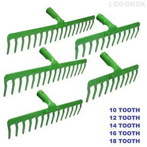 Garden Rake Leaf Lawn Leaves Teeth Garden Head Replacement Metal Heavy Duty