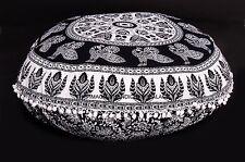 Cuscino di pavimento etnico di mandala del pavone Cuscino ottomano pouf indiano