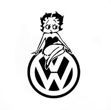 Coche VW Sexy Betty Boop Divertido/Ventana Jdm VW Euro Vinilo Calcomanía Adhesivo