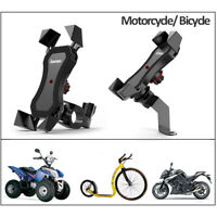 "360° Motorcycle Bicycle Bike Handlebar Stand Mount Holder For GPS 6"" Cell Phone"