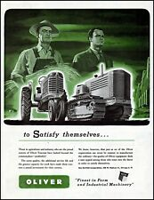 1949 Oliver tractors farm industrial machinery vintage art Print Ad adL40
