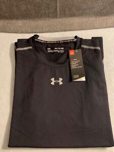 Under Armour UA Heatgear Mens Compression Sleeveless Shirt Fitness Active Black