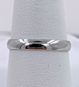 10K White Gold Band Size 9 3.1mm