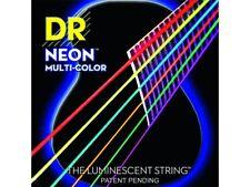 DR STRINGS NMCA-10 Hi-Def Multi-Color Muta di corde multicolore per chitarra ...