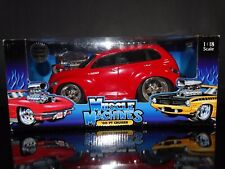 Muscle Machines '00 PT Cruiser Red Hot Rod 1:18 Scale Diecast 2000 Plymouth Car