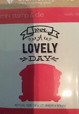 Lovely day-crafter 's companion diamond press mini stamp & die DP1142