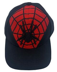 Spiderman Infant Hat Adjustable Strap (Black / Red, Curved) - FREE SHIPPING
