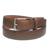 Will Leather Goods Men Size 38 Leather Belt Tan Brown 30mm Wide NWT