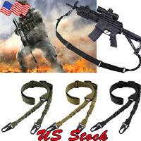 Tactical 2 Point Gun Sling Shoulder Strap Outdoor Rifle QD Metal Buckle Shotgun