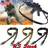 Tactical 2 Point Gun Sling Shoulder Strap Outdoor Rifle QD Metal Buckle Shotgun