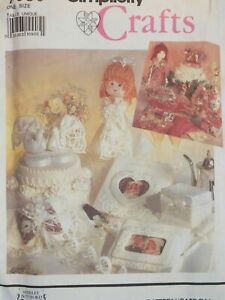 OOP SIMPLICITY 7086 Bridal Accessories PATTERN Cake Topper~Doll~Pew Bow & MORE!