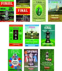 FA CUP FINAL PROGRAMME COVER FRIDGE MAGNETS 1970 to 1979