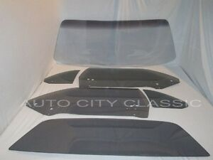 1970 71 72 73 74 Cuda Glass Windshield Door Quarter Back Grey Set Plymouth