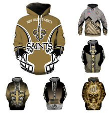 New Orleans Saints Hoodies 3D Print Sweatshirt Pullover Men's Casual Jacket Coat