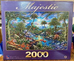 SURE-LOX DISCOVERY ISLAND 2000 Pcs Puzzle Complete ANIMALS MONKEY TIGER BIRDS