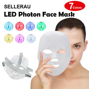 LED The New Photon Face Mask Rejuvenation Skin Facial Wrinkle Therapy 7 Colour