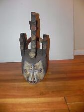 "Arts of Africa - Yoruba Helmet Mask - Nigeria - Benin - 23"" X !8"""