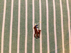 Ralph Lauren Green White Stripe Classic Fit  Mens   Button Down Shirt  Shirt