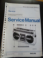 Original Service Manual  Philips Stereo Radio  Recorder D8434