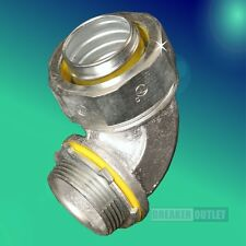 """New Cooper Crouse-Hinds LT12590 1-1/4"""" 90 Degree Liquidtight Connector"""