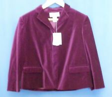 Calvin Klein Purple Blazer 8 Velvet Jacket 3/4 Sleeves Formal Deep Dark NEW NWT