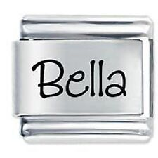 BELLA Name  - Daisy Charms by JSC Fits Classic Size Italian Charm Bracelet