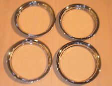 "Triumph TR2 TR3 MGA Austin Healey Steel Disc Wheel Trim Rings ""Chrome Plated"""