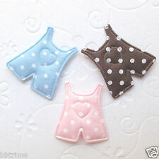 """US SELLER - 60 pcs x 1"""" Padded Polka Dot Cotton Baby Trousers Appliques ST342"""