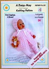 DOLL'S KNITTING PATTERN FOR 18 -19 INCH DOLL by Daisy May No 303