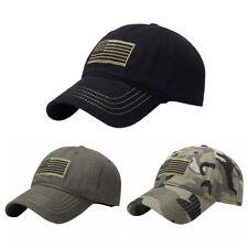 Mens Baseball Caps Tactical Army Cotton Military Hats USA American Flag Mesh Hat