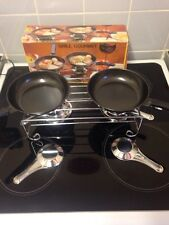 Grill Gourmet Table Kit With Two Frying Pans Never Used