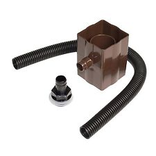 FloPlast Rainwater Diverter Kit Brown Water Butt Fits Square & Round Down Pipes