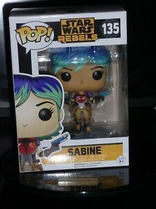funko vinyl pop star wars rebels  sabine #135 new