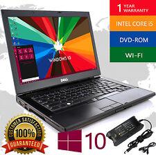 DELL LAPTOP WINDOWS 10 PC Intel i5 2.4Ghz 4GB RAM WiFi DVDRW NOTEBOOK 250GB HD