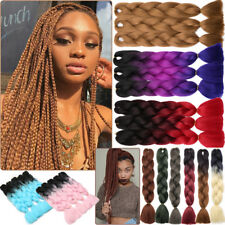 "3-5Bundles 24"" Ombre EXpression Jumbo Crochet Braiding Braid Hair Extensions FH3"