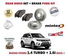 FOR SUZUKI VITARA 1.4 TURBO 1.6i 2015-->NEW REAR BRAKE DISCS SET + DISC PADS KIT
