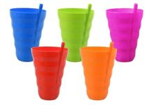 BPA Free Dishwasher Safe Colorful Plastic Tumber with Built-In Straw Pick Color