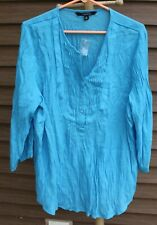 Woman's Turquoise Blue Shirt by Chadwick's; Size: XL - NWT