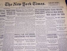 1934 DEC 5 NEW YORK TIMES PACIFIC FLIERS MISSING AFTER SOS NEAR HAWAII - NT 1628