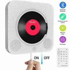 More details for bluetooth 4.2 cd player fm radio usb aux mp3 led display portable wall mountable