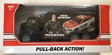 New Paul Menard Nascar 21 Wood Brothers Denver Diecast Pull-Back Truck Menards
