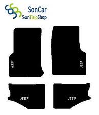 TAPIS JEEP WRANGLER TJ 1997-06, décoration : Jeep blanc + 4 Fixer Universel